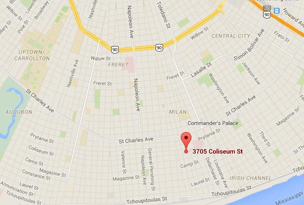 map to New Orleans psychiatrist office